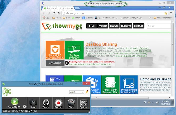 ShowMyPC Feature