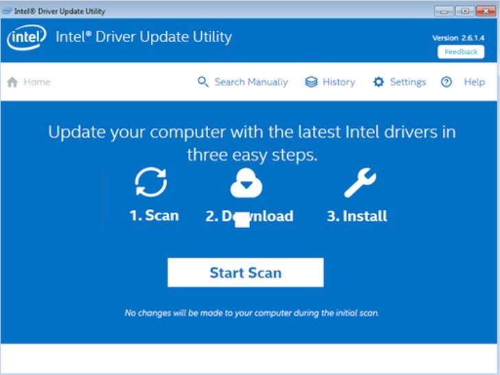 Intel Driver Update Utility Scan